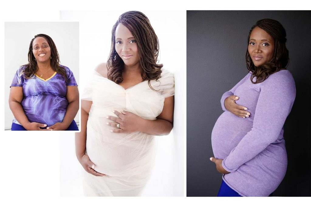 Before and after - Keisha maternity