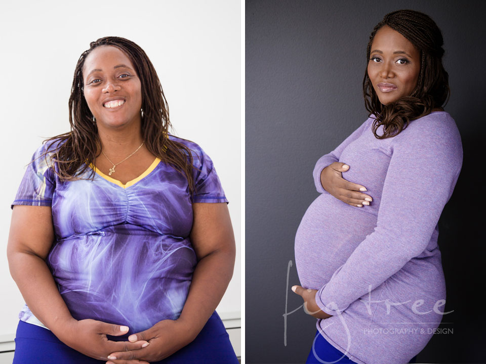 Before and After for Keisha maternity session